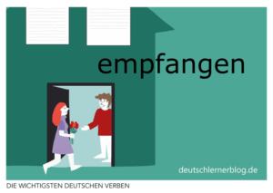 empfangen-deutsche-Verben-mit-Bildern-Deutsch-lernen-mit-Deutschlernerblog