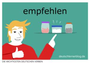 empfehlen-deutsche-Verben-mit-Bildern-Deutsch-lernen-mit-Deutschlernerblog