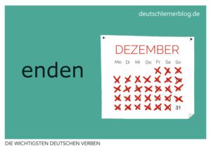 enden-deutsche-Verben-mit-Bildern-Deutsch-lernen-mit-Deutschlernerblog