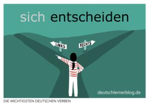 entscheiden-deutsche-Verben-mit-Bildern-Deutsch-lernen-mit-Deutschlernerblog