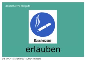 erlauben-deutsche-Verben-mit-Bildern-Deutsch-lernen-mit-Deutschlernerblog