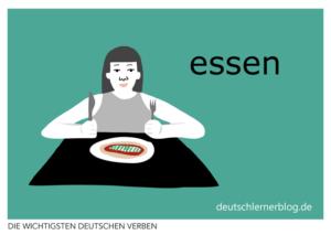 essen-deutsche-Verben-mit-Bildern-Deutsch-lernen-mit-Deutschlernerblog