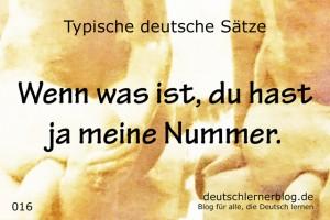 deutsche Sätze 016 Du hast meine Nummer deutschlernerblog 640