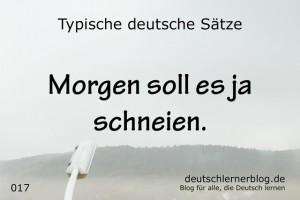 deutsche Sätze 017 Morgen soll es schneien deutschlernerblog 640
