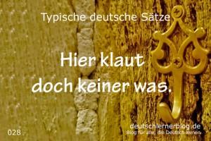 deutsche Sätze 028 Hier klaut doch keiner was deutschlernerblog 640