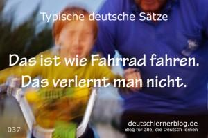 deutsche Sätze 037 wie Fahrrad fahren deutschlernerblog 640