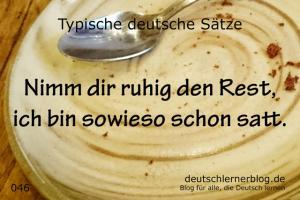 deutsche Sätze 046 Nimm dir ruhig den Rest 640