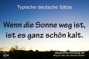 deutsche Sätze 004 Sonne weg  640 typische deutsche Sätze