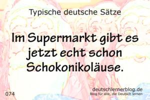 deutsche Sätze 074 im Supermarkt Schokonikoläuse deutschlernerblog 640